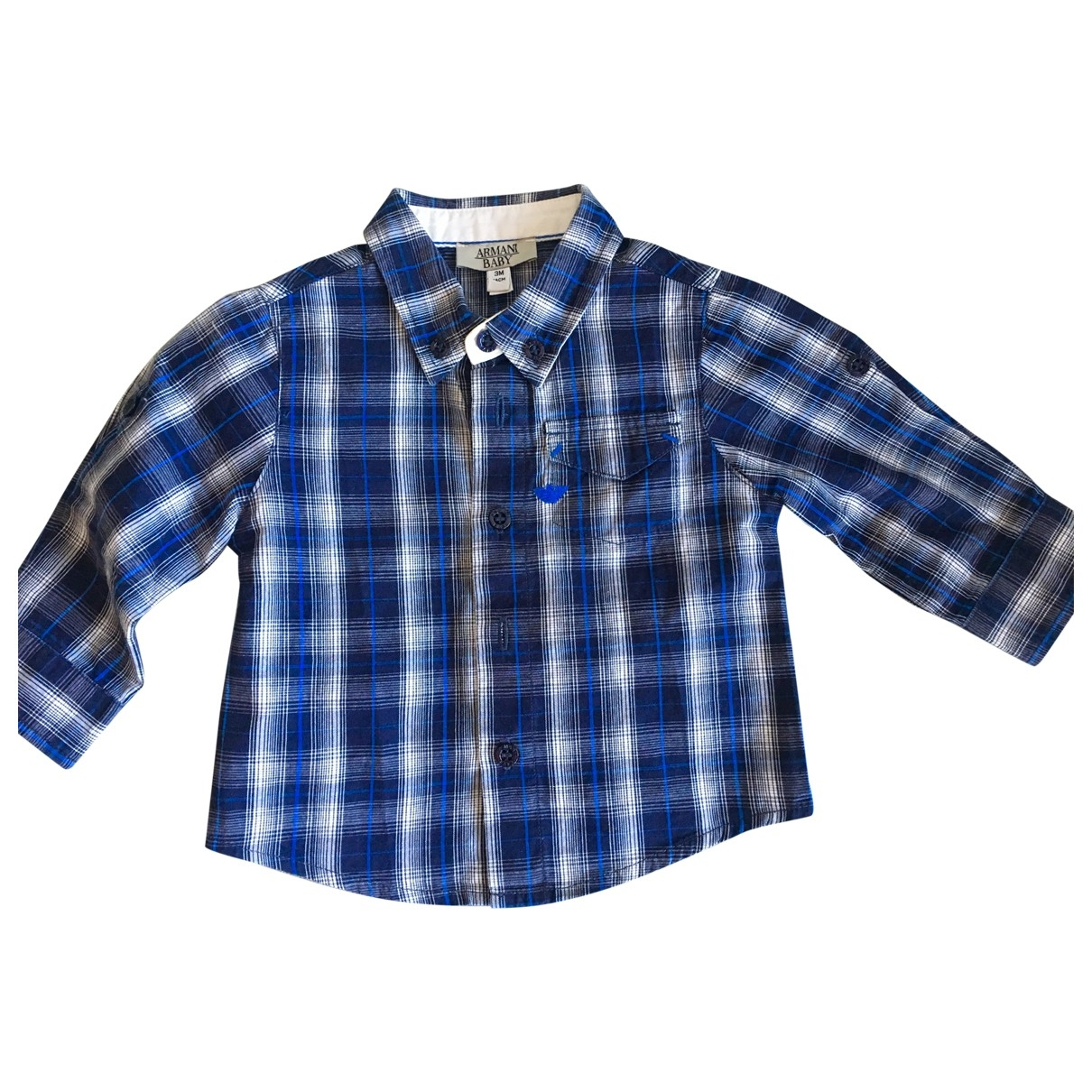 Armani Baby - Top   pour enfant en coton - bleu