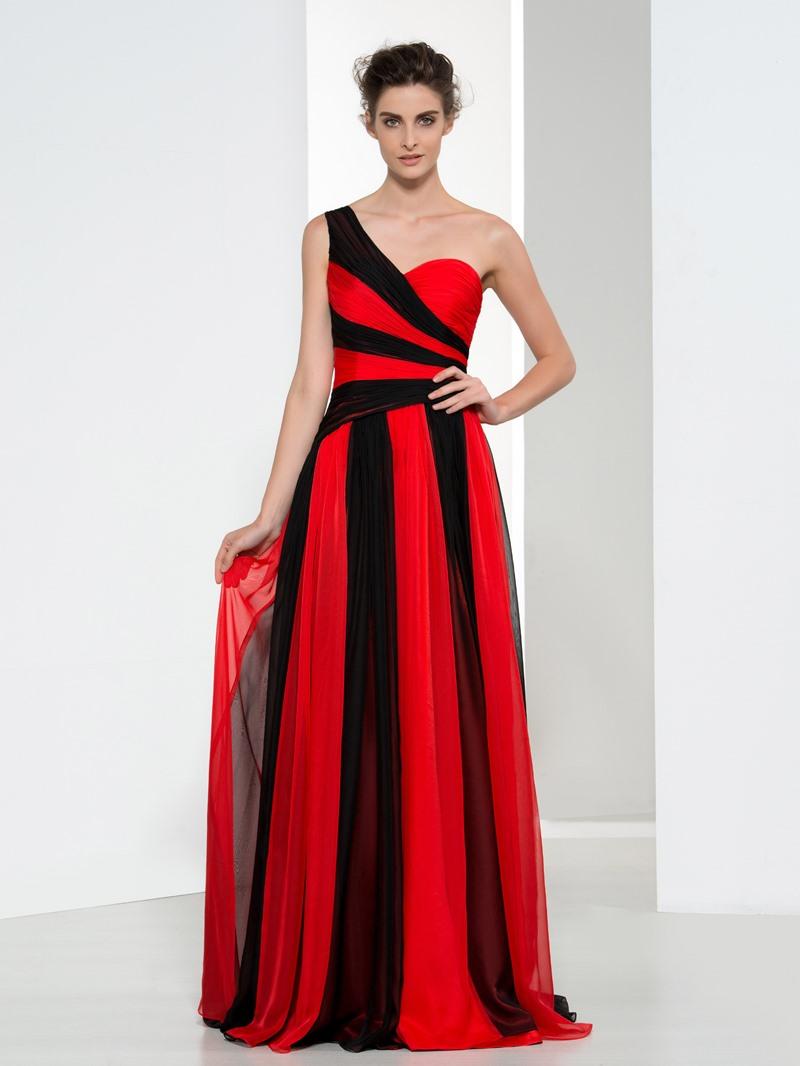 Ericdress A-Line One Shoulder Pleats Evening Dress