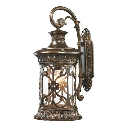 45081/1 Orlean Collection 1 Light outdoor Sconce in Hazelnut
