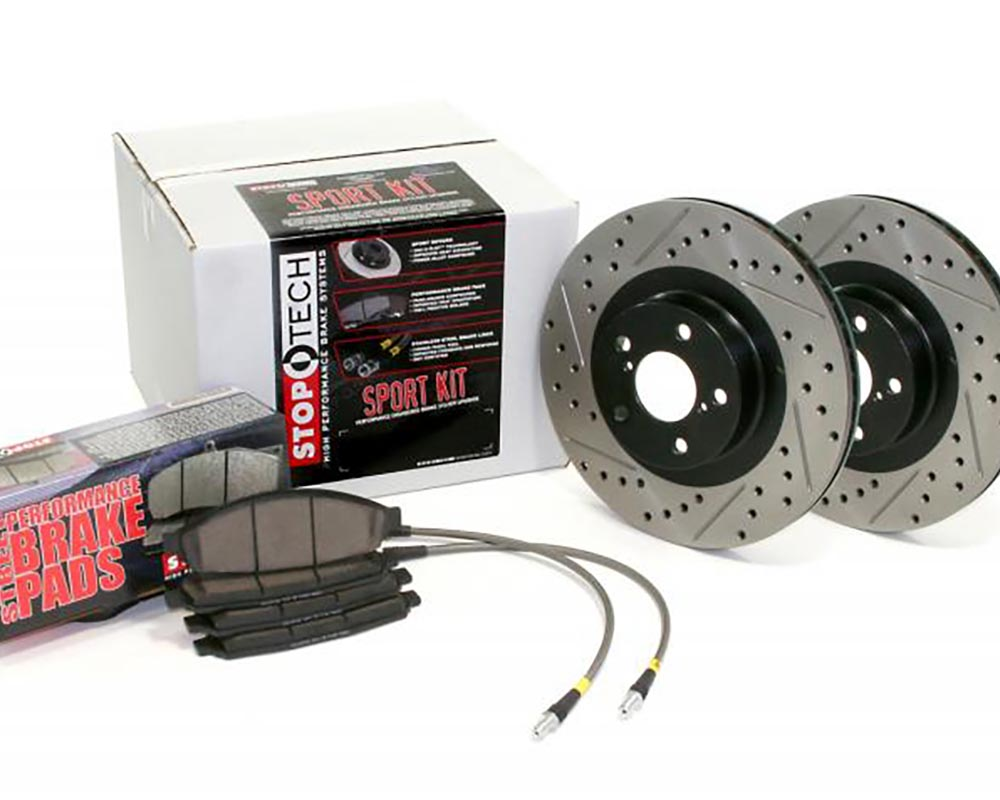 StopTech 978.40006R Sport Axle Pack Drilled and Slotted; Rear Rear
