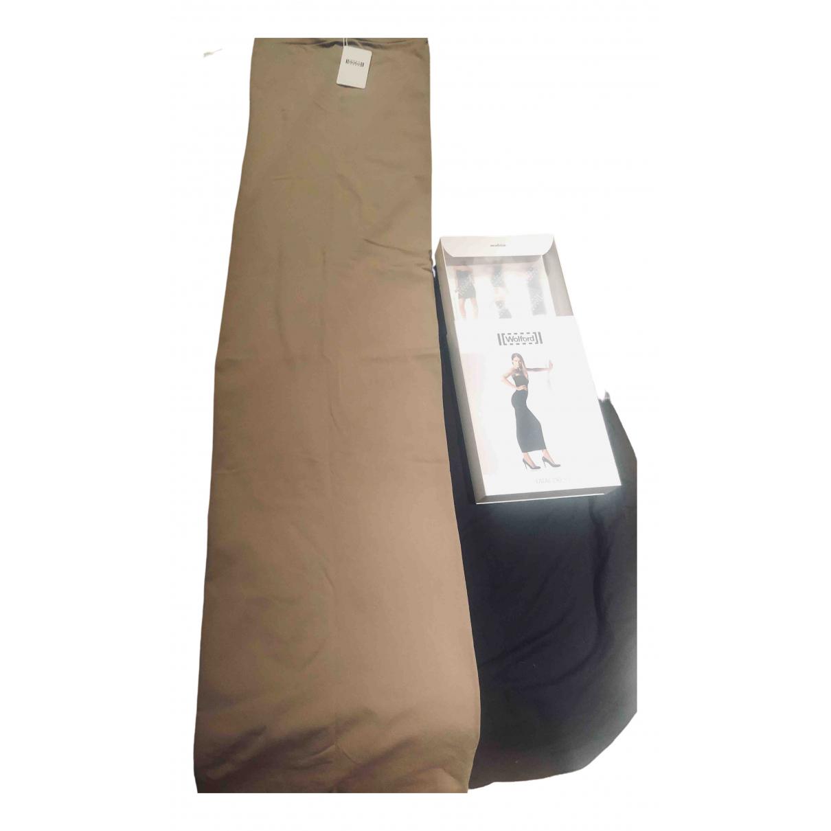 Wolford - Robe   pour femme en coton - elasthane - beige