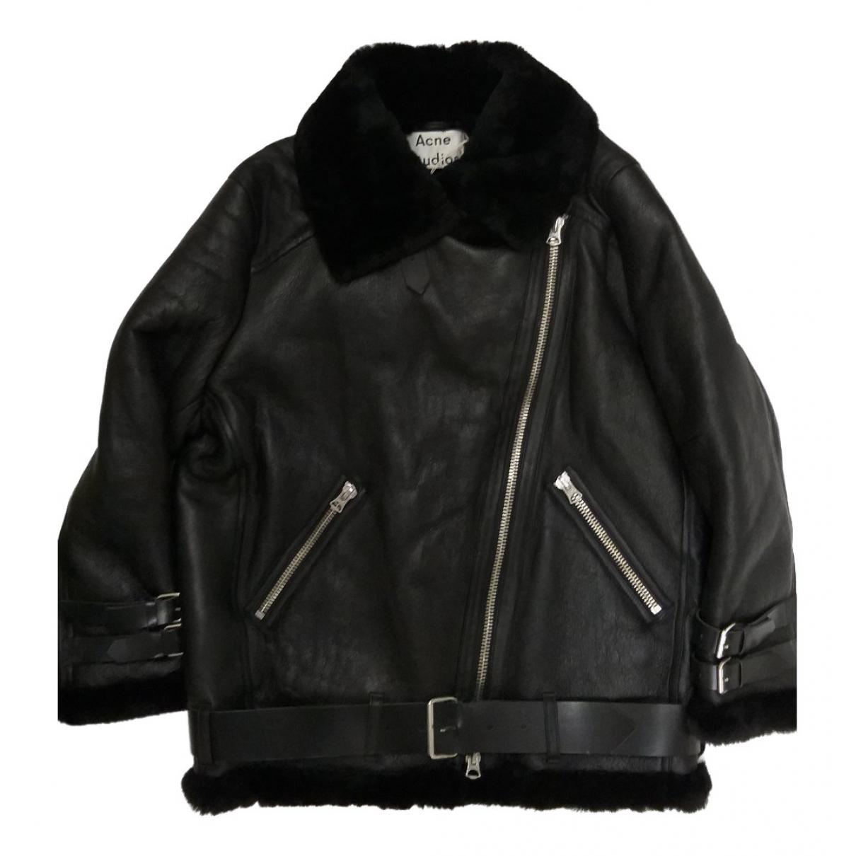 Acne Studios \N Black Leather jacket  for Men 38 UK - US