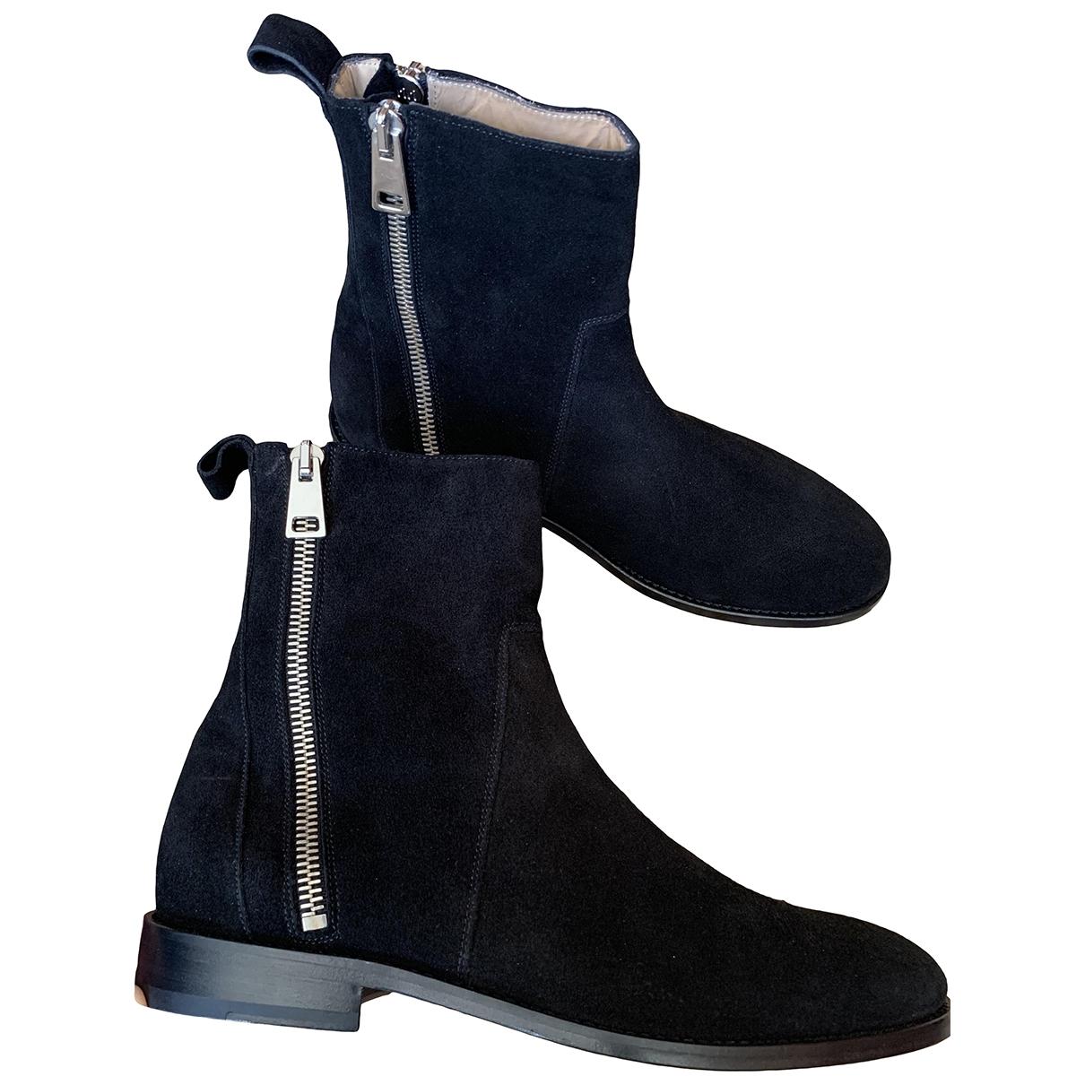 Represent \N Black Suede Boots for Men 43 EU