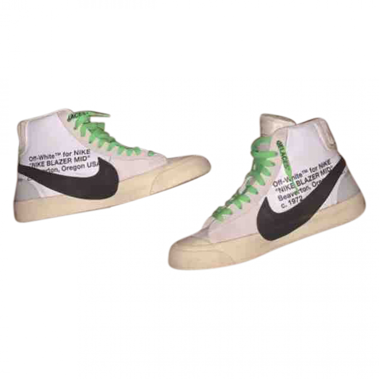 Nike X Off-white Blazer Mid Sneakers in  Beige Kautschuk