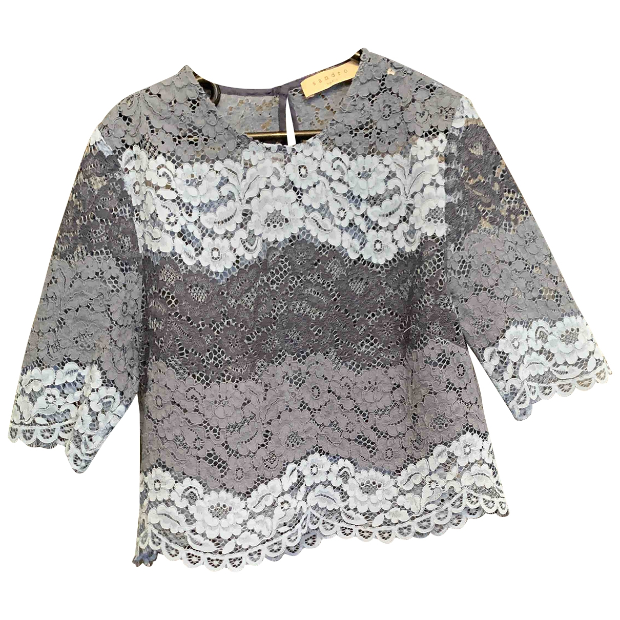 Sandro \N Blue Lace  top for Women 1 0-5