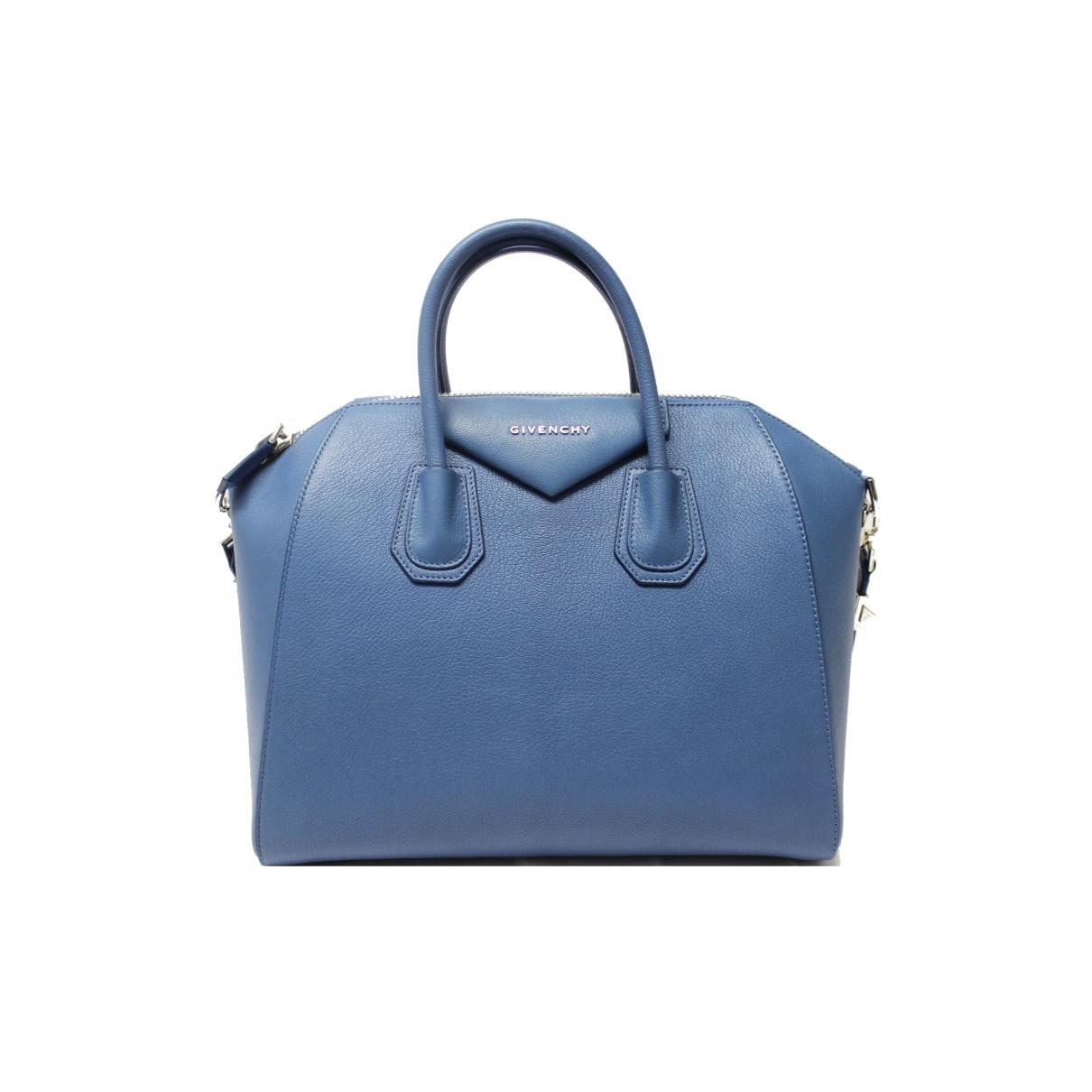 Givenchy - Sac a main Antigona pour femme en cuir - bleu