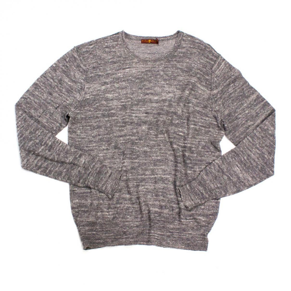 7 For All Mankind - Pulls.Gilets.Sweats   pour homme en laine - gris