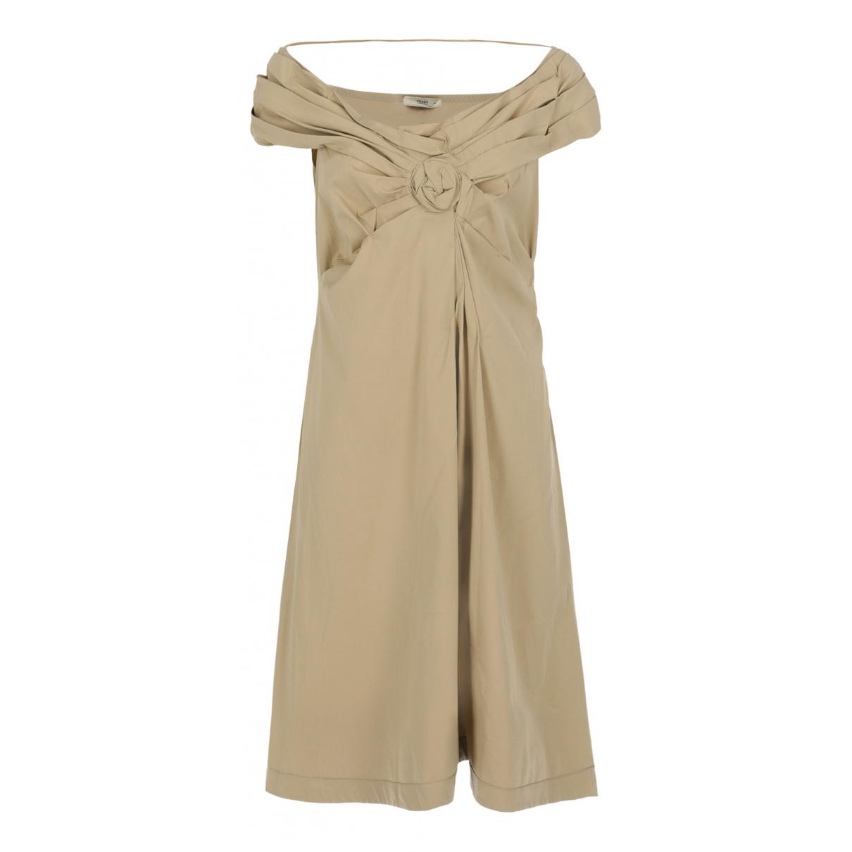 Prada - Robe   pour femme en coton - beige