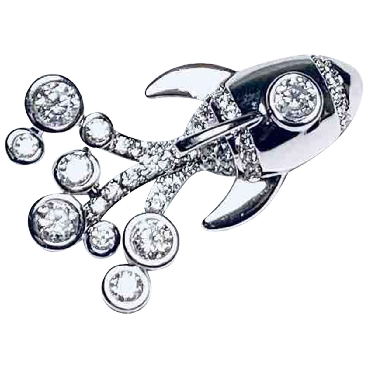 - Broche Motifs Etoiles pour femme en metal - argente
