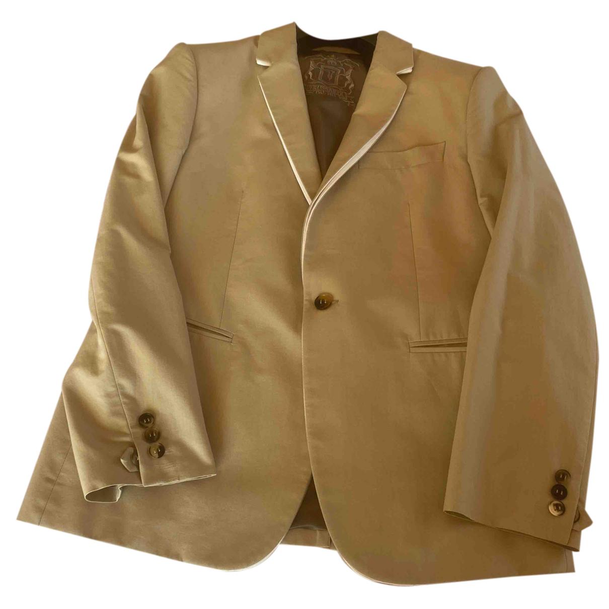 Trussardi - Vestes.Blousons   pour homme en coton - beige