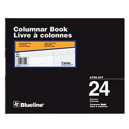 Blueline@ A769 Columnar Book Accounting Book - Recycled White Paper - 24 col.