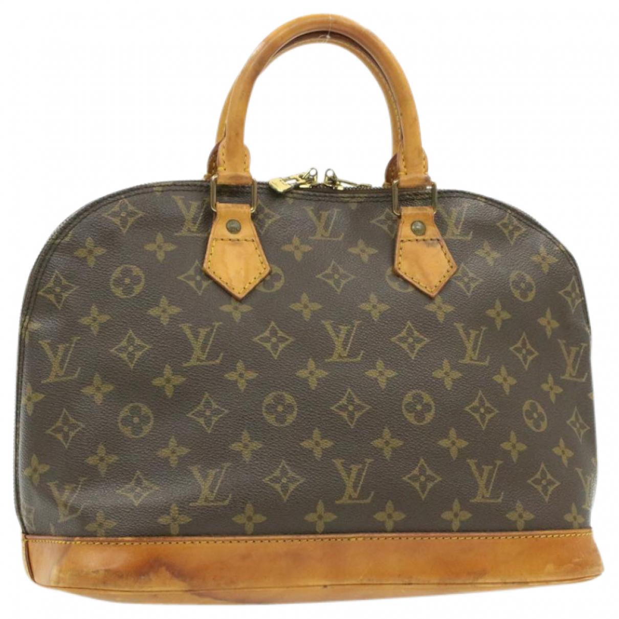 Louis Vuitton Alma Brown Cloth handbag for Women \N