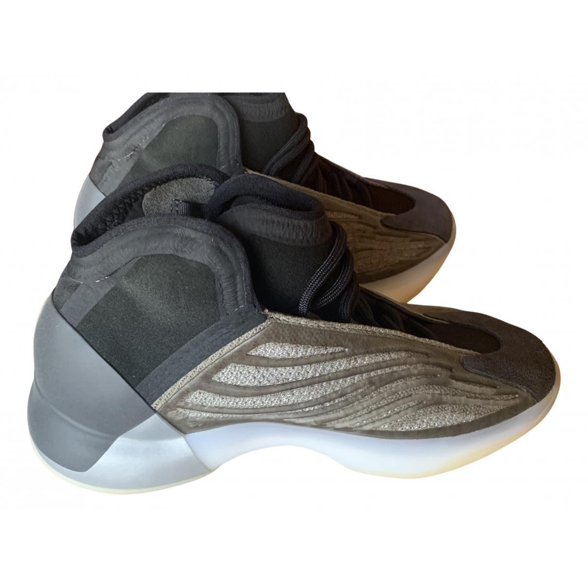 Yeezy X Adidas QNTM BSKTBL Sneakers in  Bunt Leinen