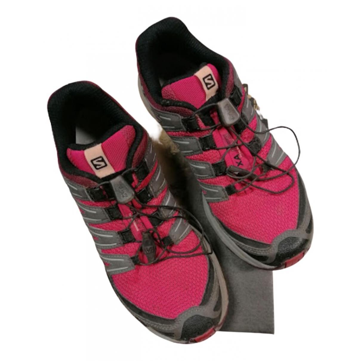 Salomon \N Sneakers in  Rosa Polyester