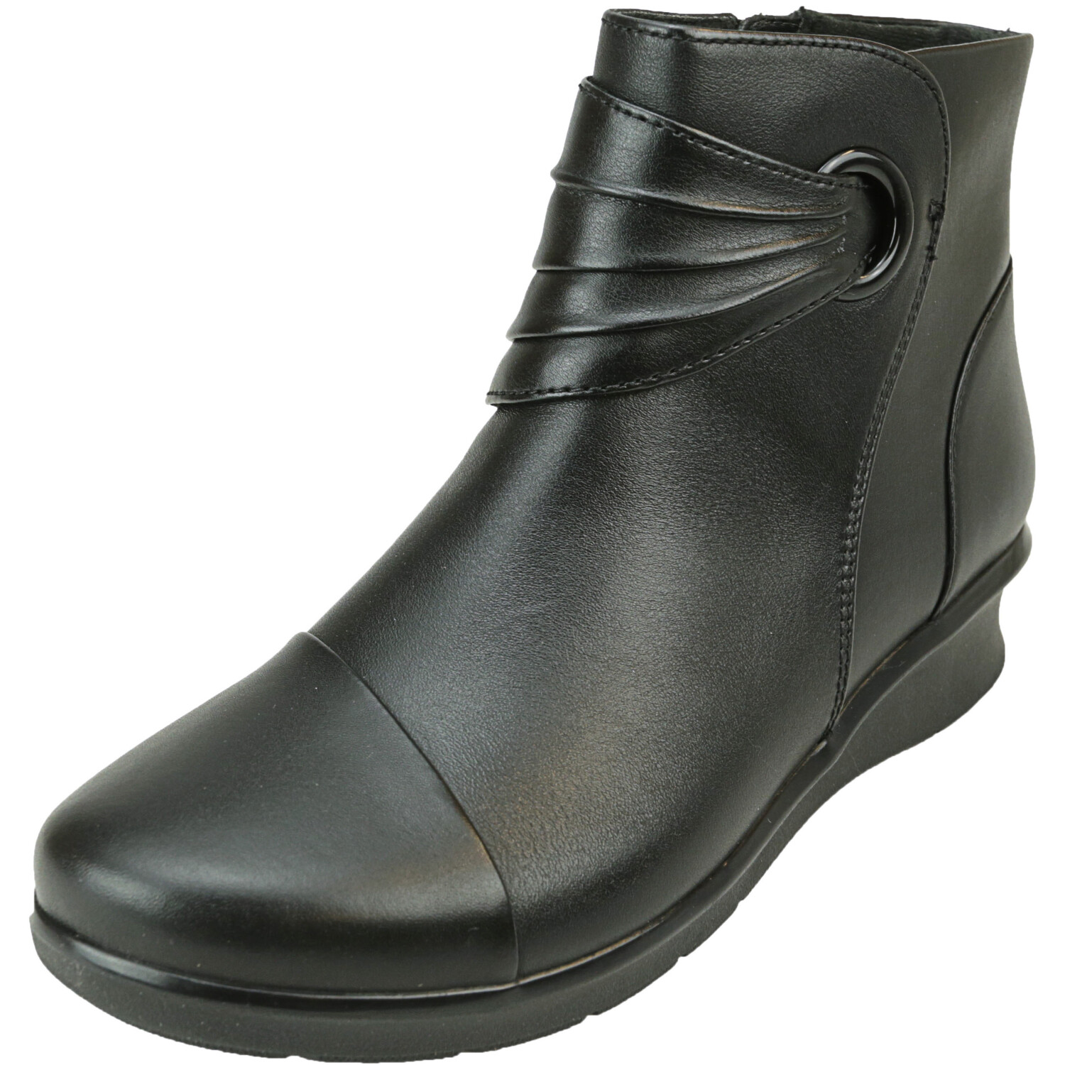 Clarks Women's Hope Twirl Leather Black Ankle-High Boot - 5M