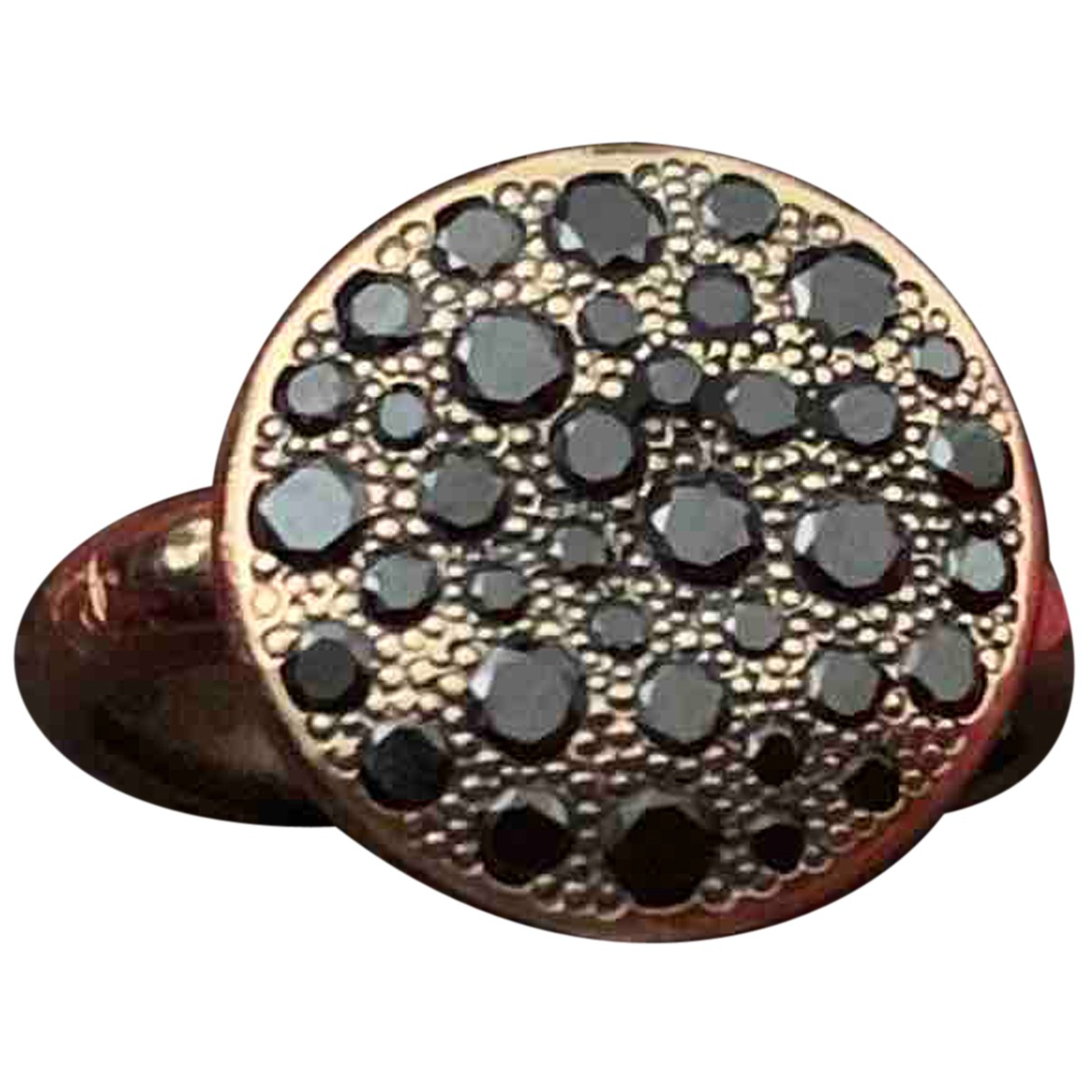 Pomellato Sabbia Black Pink gold ring for Women 47 EU