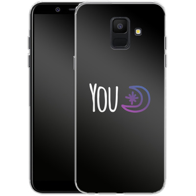 Samsung Galaxy A6 Silikon Handyhuelle - You Moon von caseable Designs