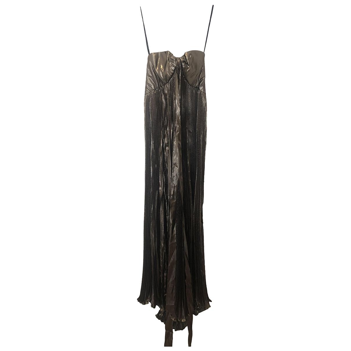 Roberto Cavalli - Robe   pour femme en soie - metallise