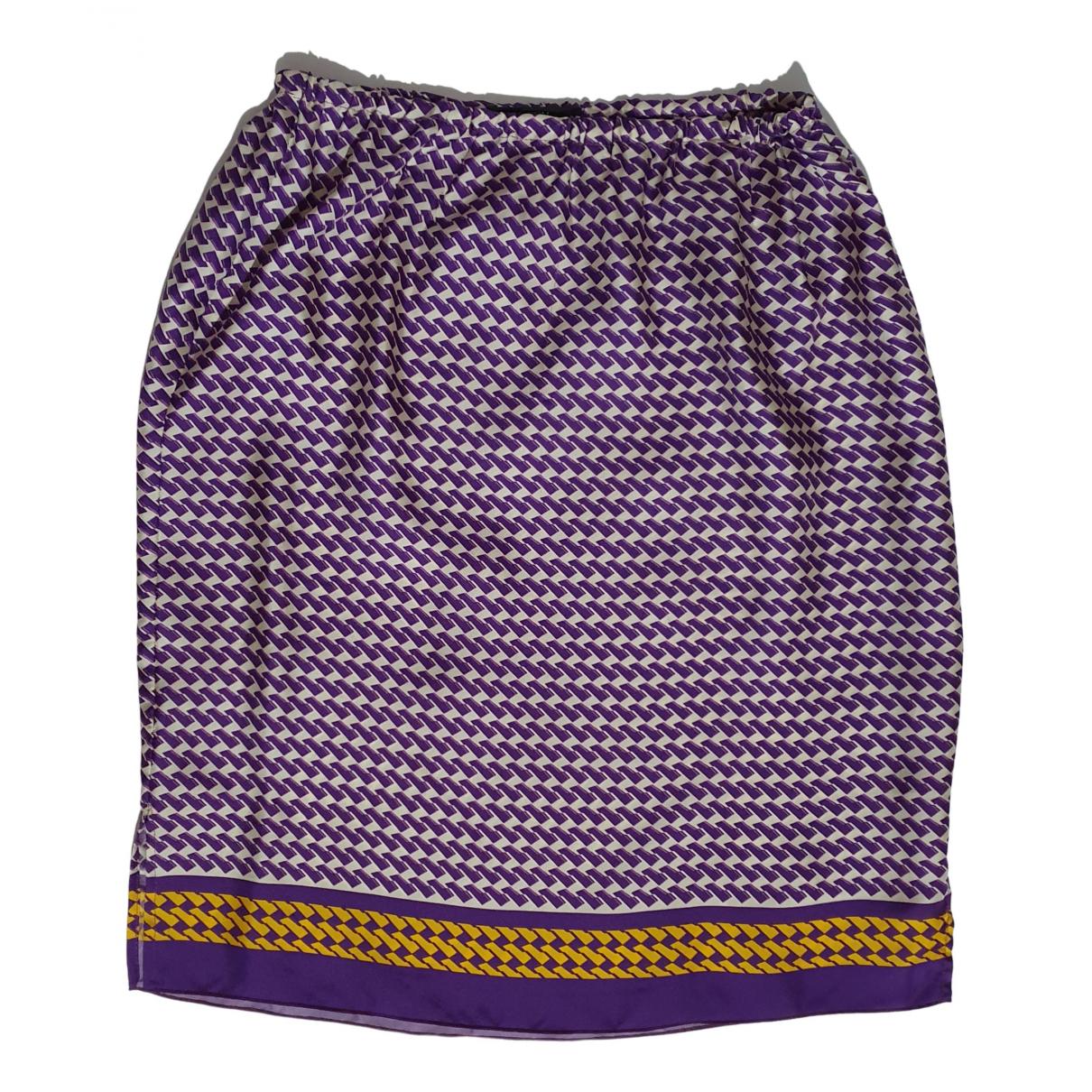 Odeeh - Jupe   pour femme en soie - multicolore