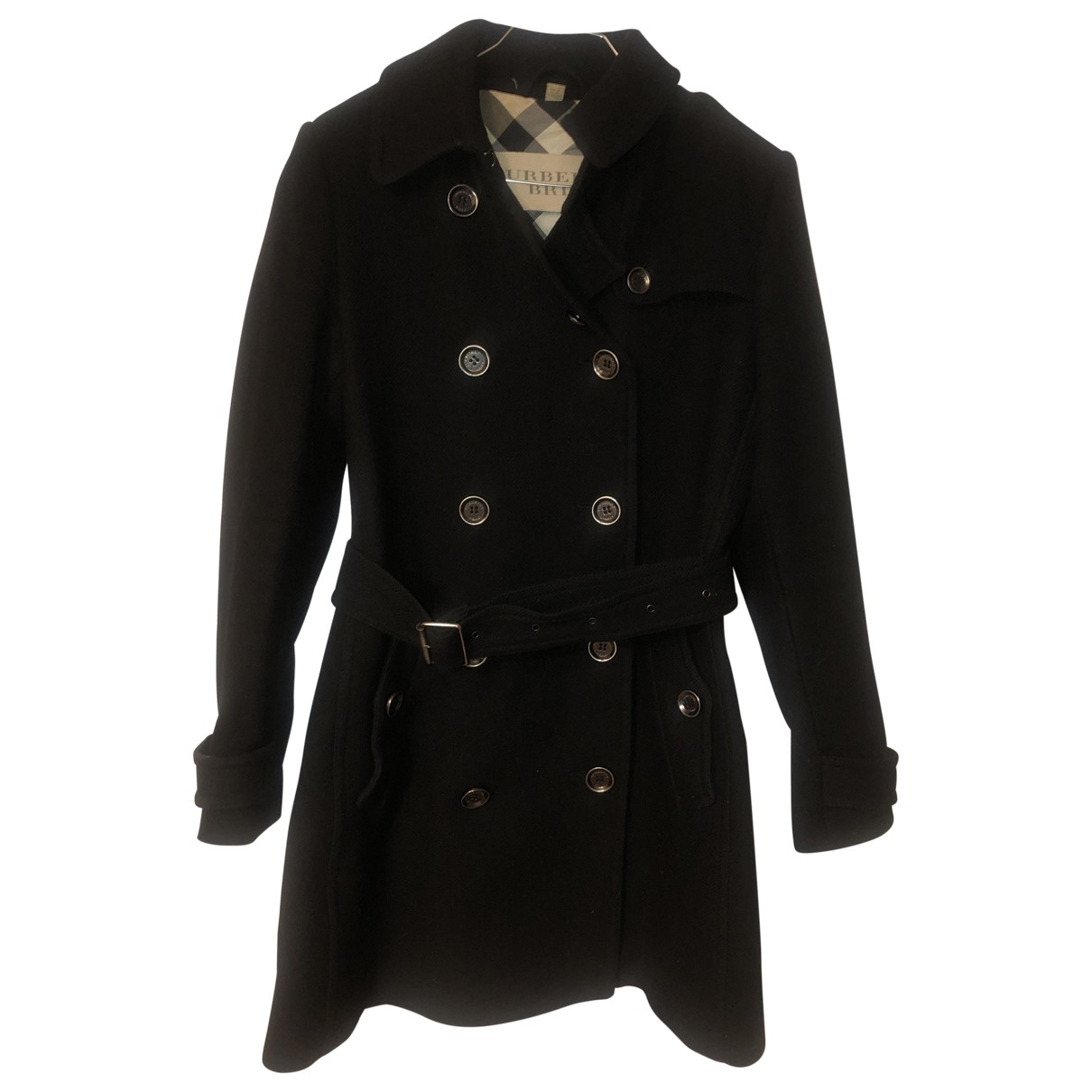 Burberry \N Black Wool coat for Women 36 FR