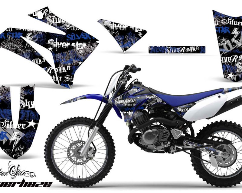 AMR Racing Dirt Bike Graphics Kit MX Decal Wrap For Yamaha TTR125LE 2008-2018áSSSH BLUE BLACK