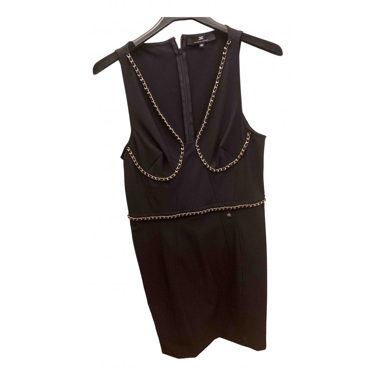 Elisabetta Franchi \N Black Cotton - elasthane dress for Women 48 IT