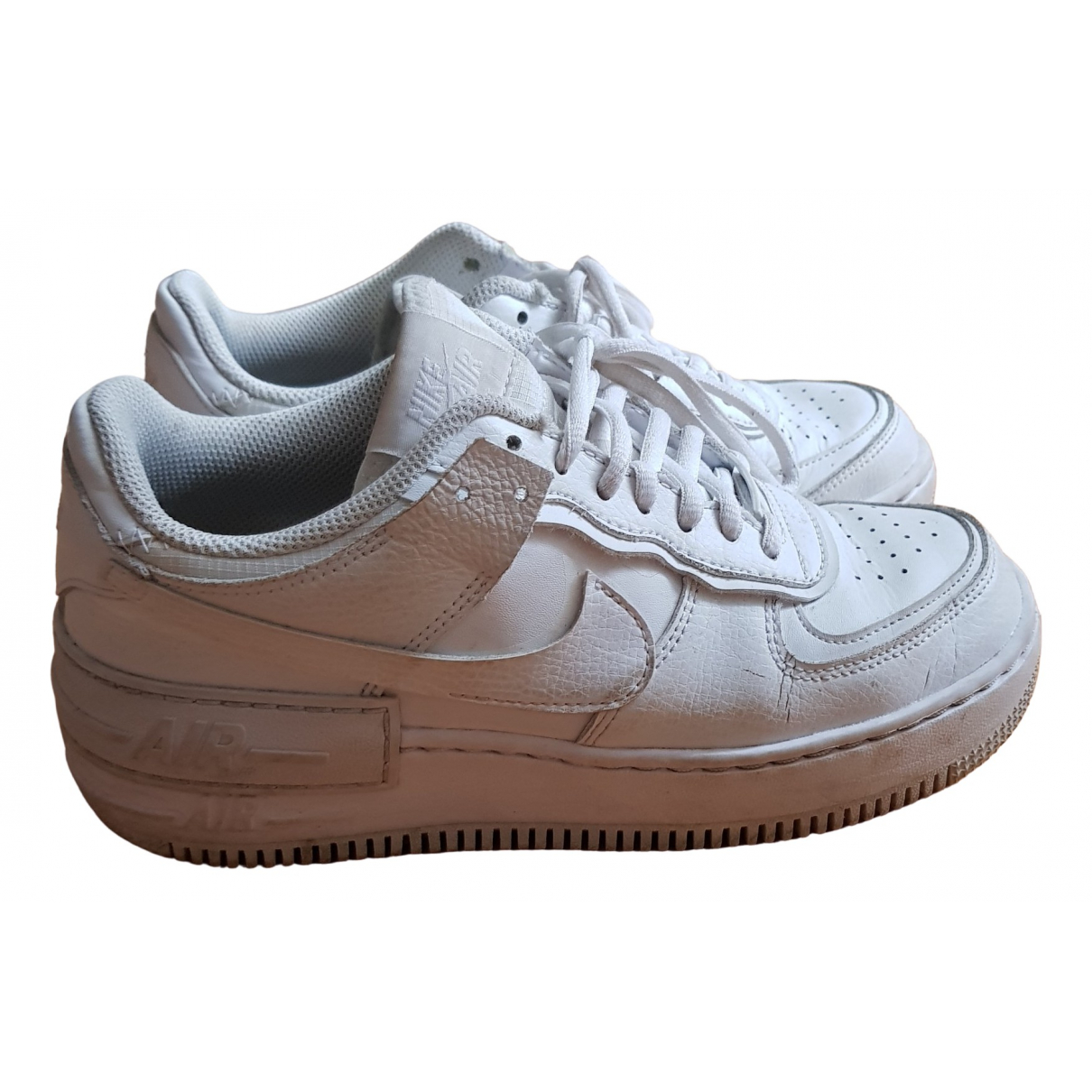 Nike Air Force 1 White Leather Trainers for Women 37.5 EU