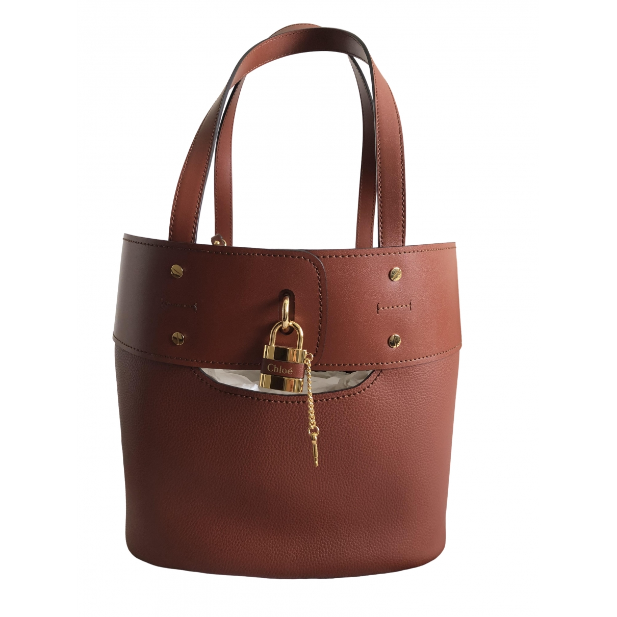 Chloé Aby Burgundy Leather handbag for Women \N