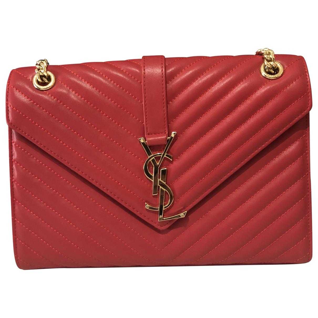 Saint Laurent Satchel monogramme Red Leather handbag for Women \N