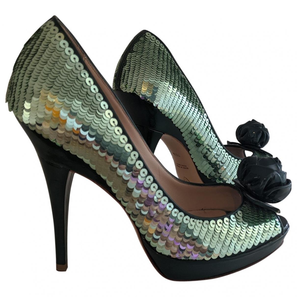 Emporio Armani \N Green Glitter Heels for Women 36.5 EU