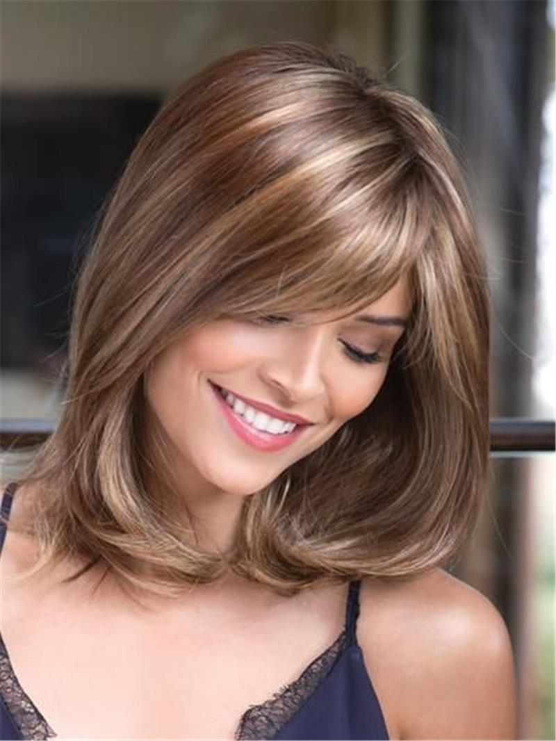 Ericdress Mixed-Color One Side Part Straight Synthetic Hair Capless Capless 14 Inches