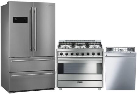 3 Piece Kitchen Appliance Package with FQ50UFXE 36