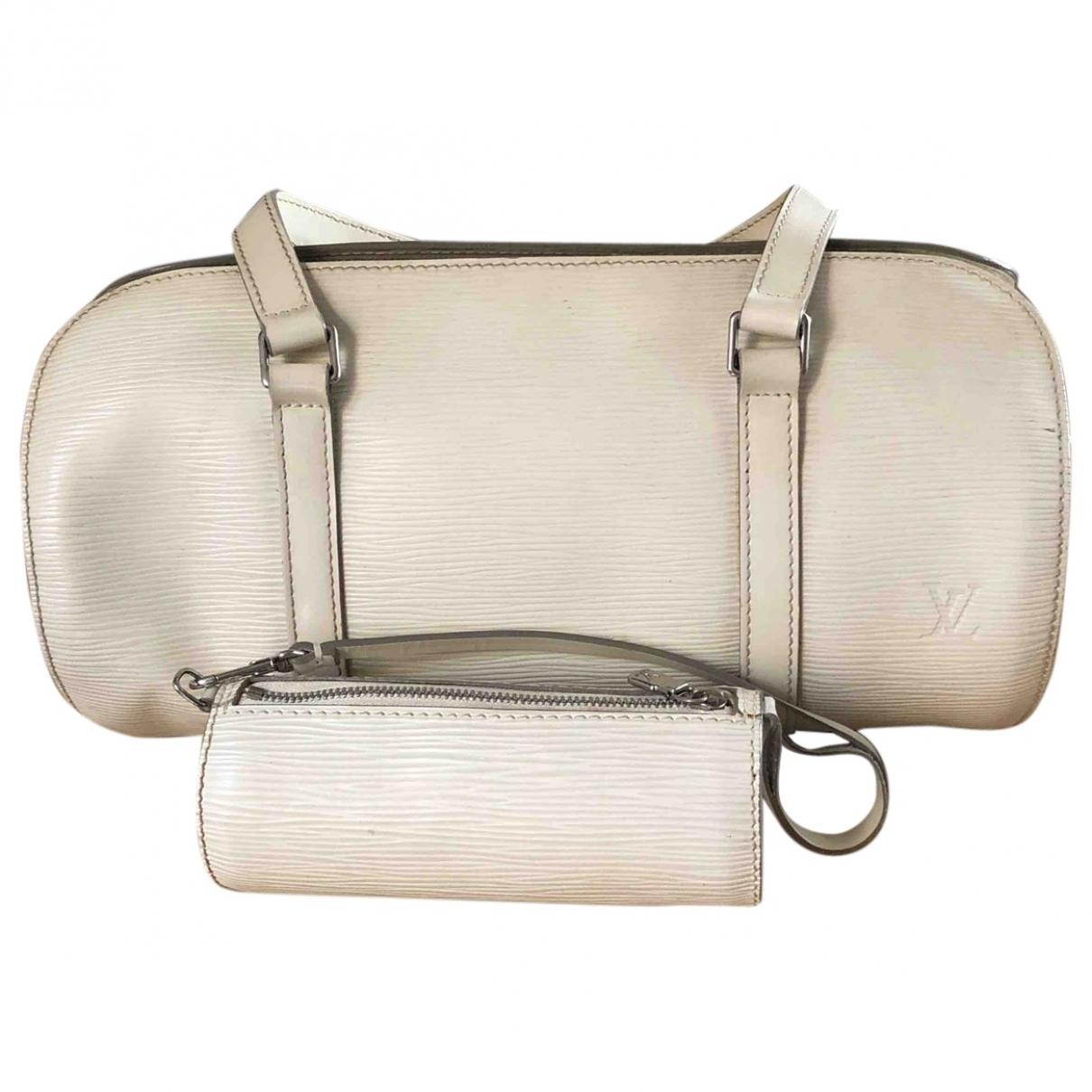 Louis Vuitton Soufflot White Leather handbag for Women \N