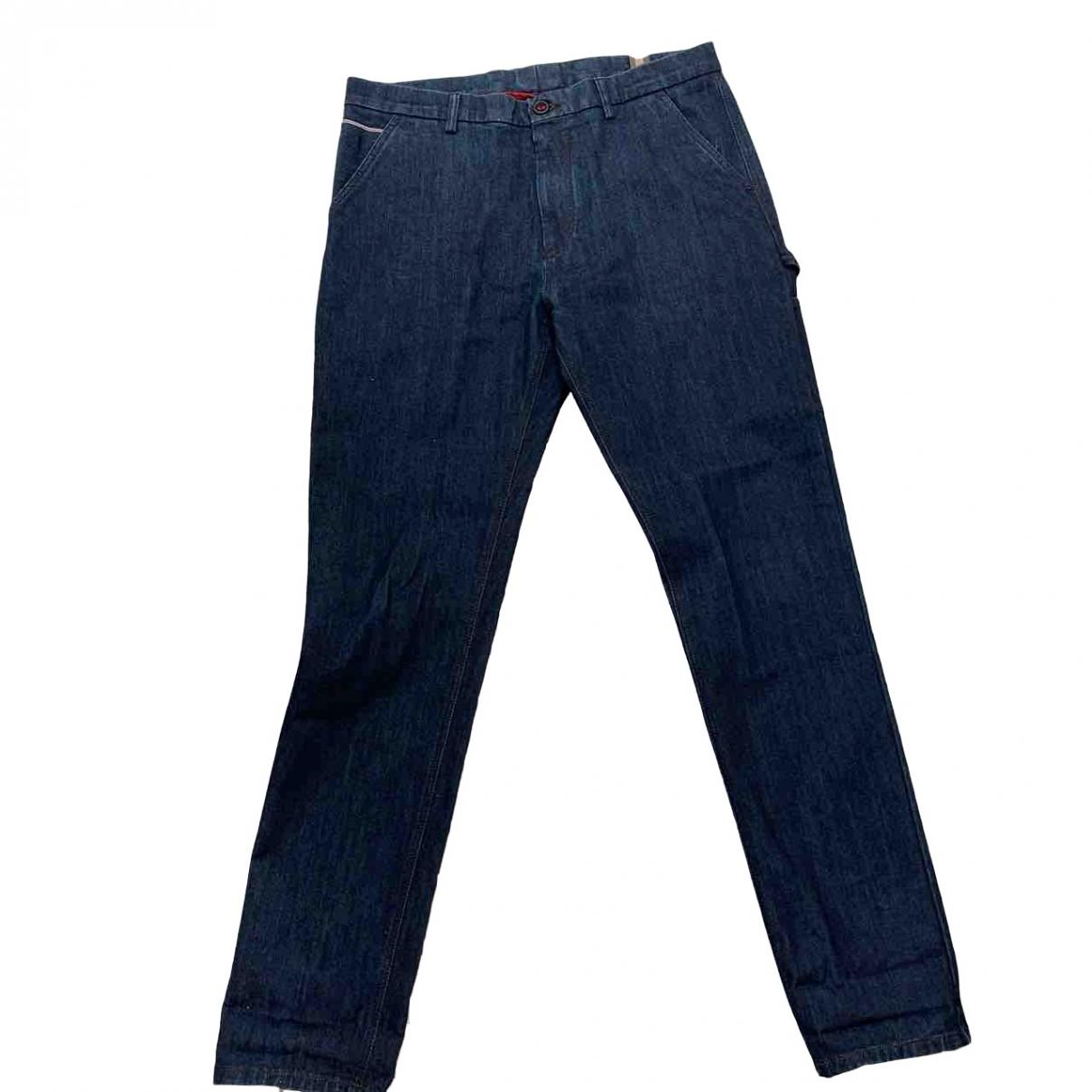 - Jean   pour homme en coton - bleu