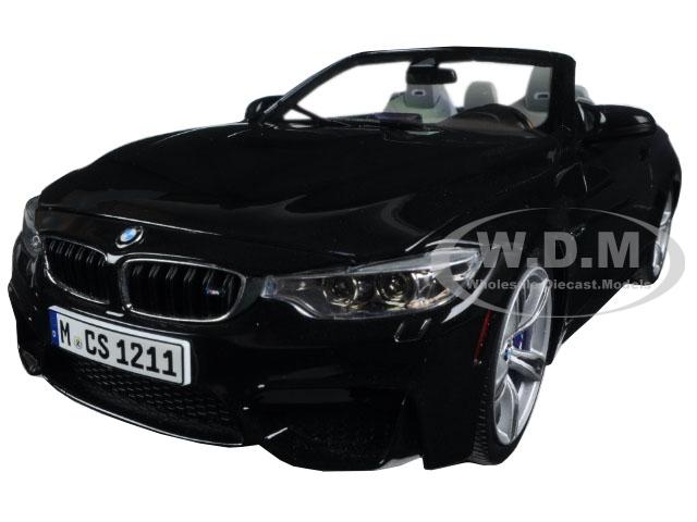 BMW M4 Cabrio Black 1/18 Diecast Model Car by Paragon