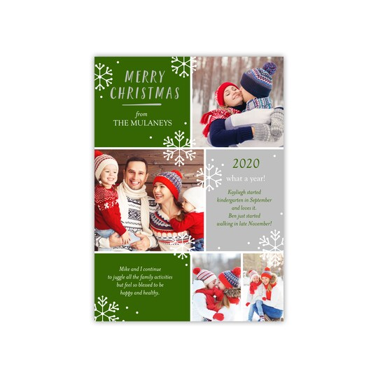 20 Pack of Gartner Studios® Personalized Christmas Photo Card in Forest | 5