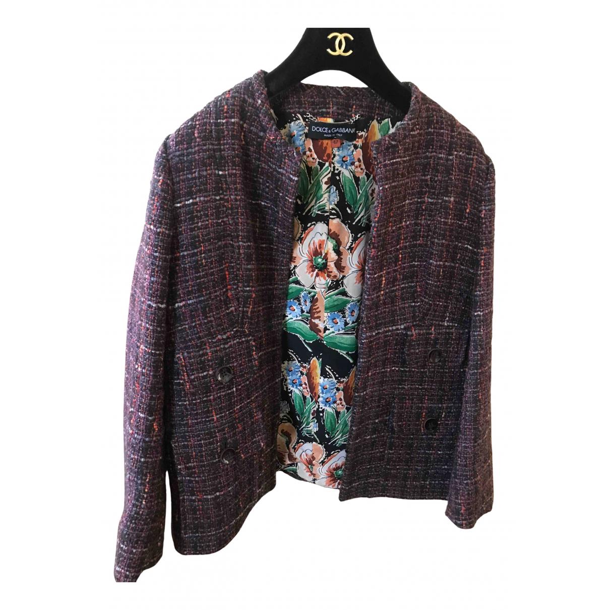 Dolce & Gabbana - Veste   pour femme en laine - violet
