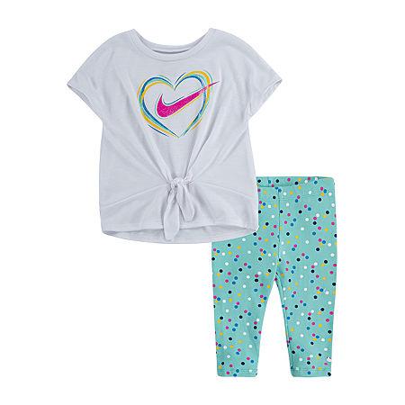 Nike Little Girls 2-pc. Legging Set, 6x , Green