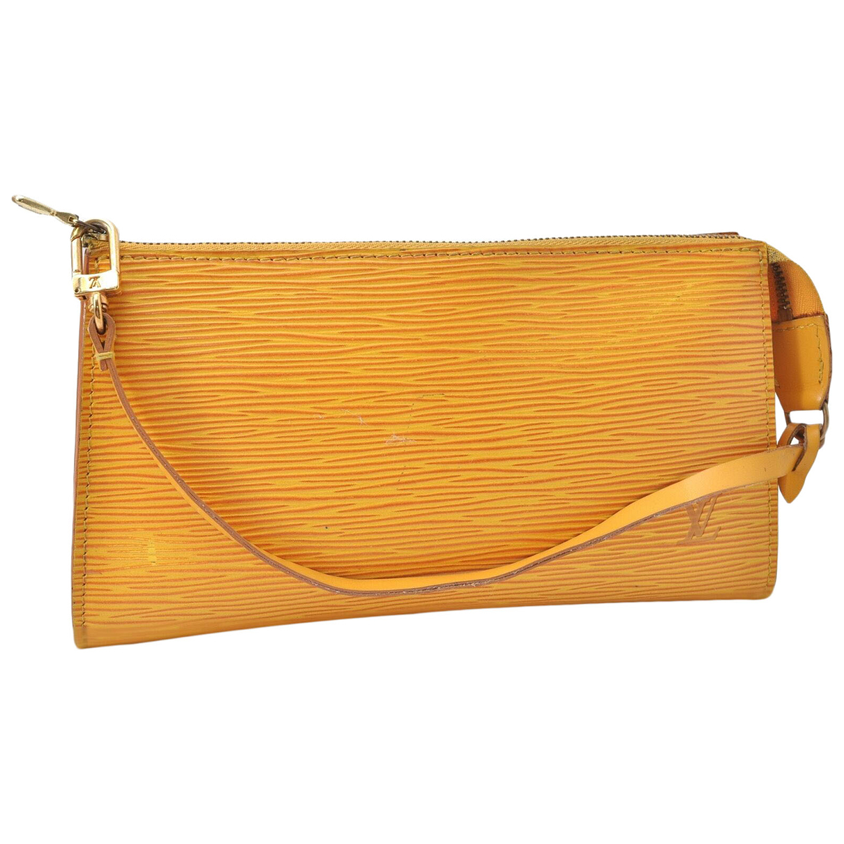 Louis Vuitton N Yellow Leather Clutch bag for Women N