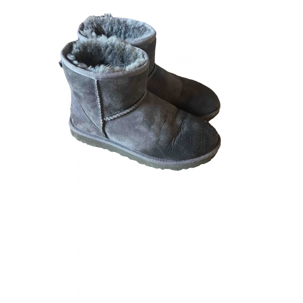 Ugg \N Anthracite Suede Boots for Women 37 EU