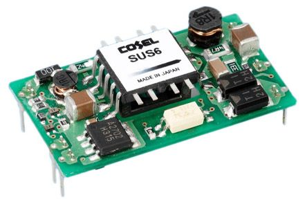 Cosel 6W Isolated DC-DC Converter Through Hole, Voltage in 9 → 18 V dc, Voltage out 5V dc