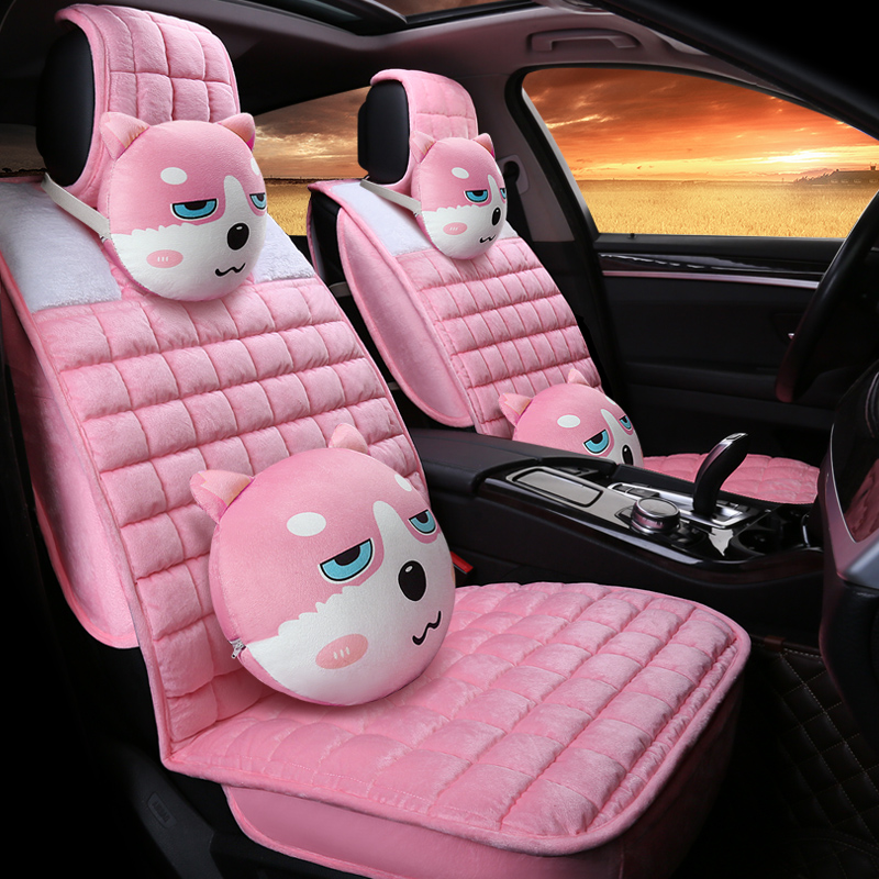 Bright Color Silken Material Cartoon Style Universal Car Seat Cover