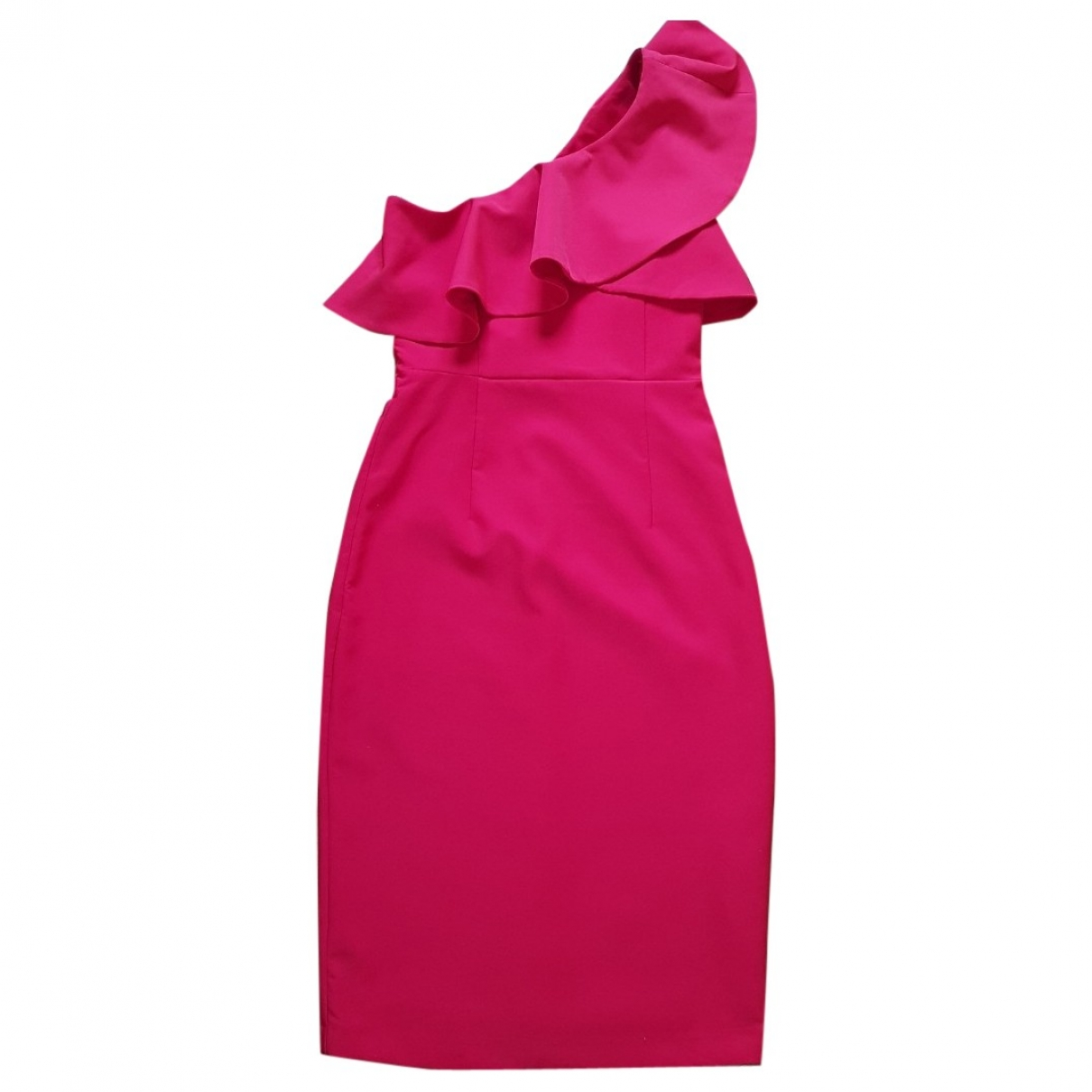 Zara \N Kleid in  Rot Baumwolle - Elasthan