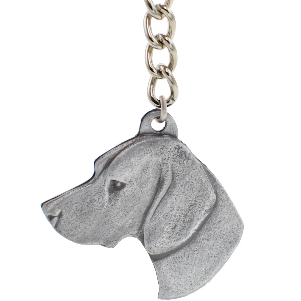 Dog Breed Keychain USA Pewter - German Shorthaired Pointer (2.5