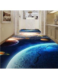 Fabulous Blue Galaxy Pattern Home Corridor Decorative Waterproof 3D Floor Murals