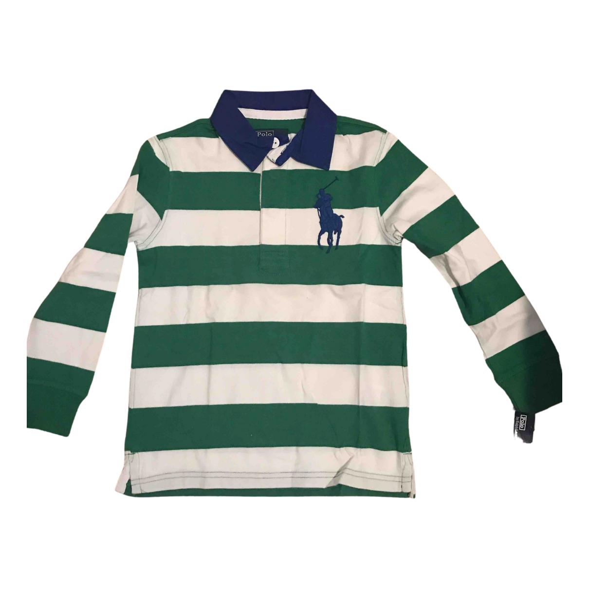 Camisetas en Algodon Verde Polo Ralph Lauren
