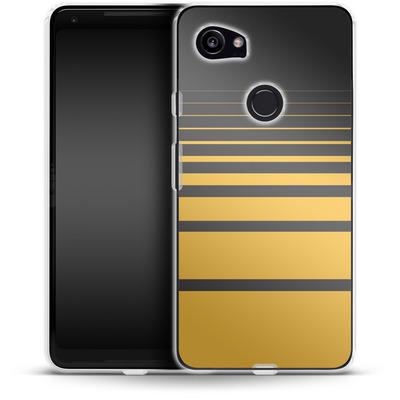 Google Pixel 2 XL Silikon Handyhuelle - Yellow Retro von SONY