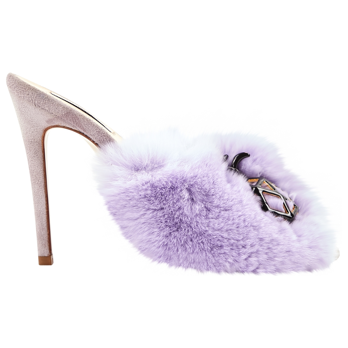 Natasha Zinko \N Purple Rabbit Mules & Clogs for Women 38 EU