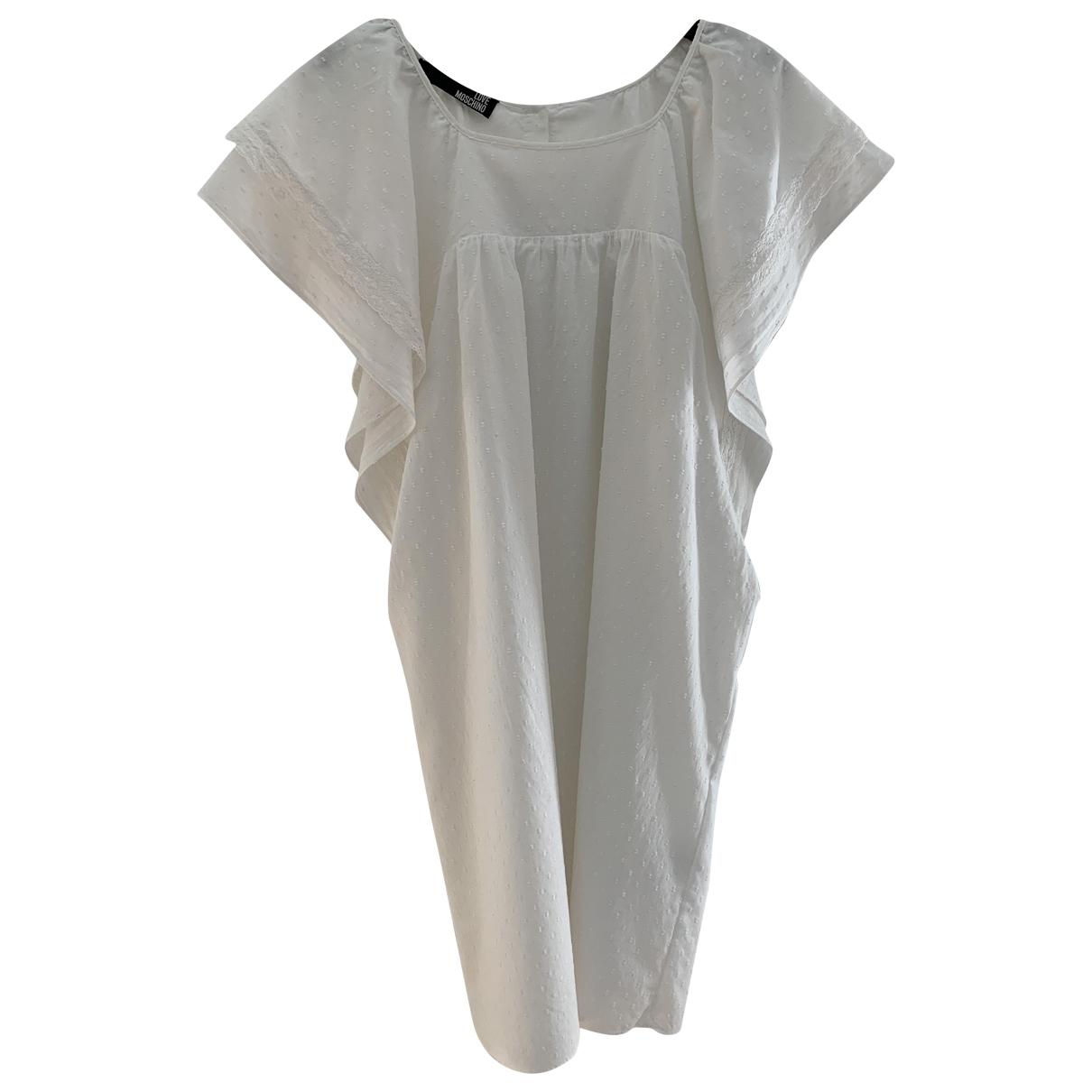Moschino Love - Robe   pour femme en coton - blanc