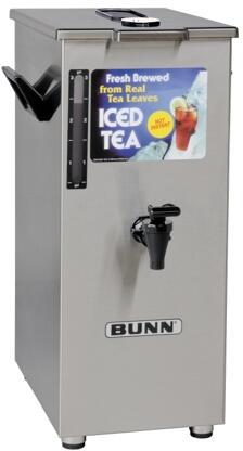 032500005 TD4T Dispenser Square Style Iced Tea And Coffee Dispenser With Brew-Through Lid  4Gal (15.1L) Capacity  Sight Gauge  in